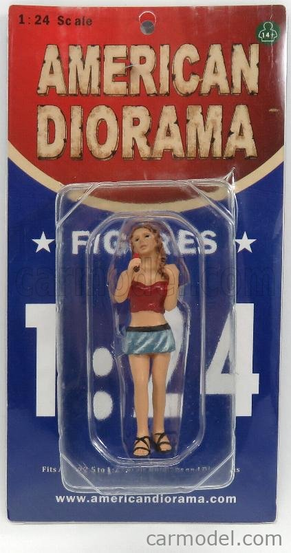 AMERICAN DIORAMA 23819 Масштаб 1/24  FIGURES MONICA GIRL WITH LOLLIPOP RED LIGHT BLUE