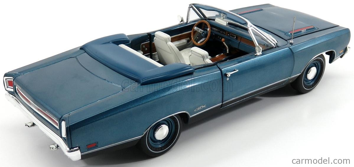 AUTOWORLD AMM1102/06 Scale 1/18  PLYMOUTH GTX CABRIOLET BLUE 1969 - 50th ANNIVERSARY BLUE