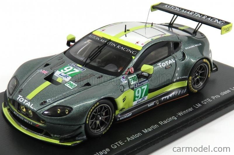 Spark Model S5836 Masstab 1 43 Aston Martin Vantage Gte 4 5l V8 Team Aston Martin Racing N 97 24h Le Mans 2017 D Turner J Adam D Serra Green Met
