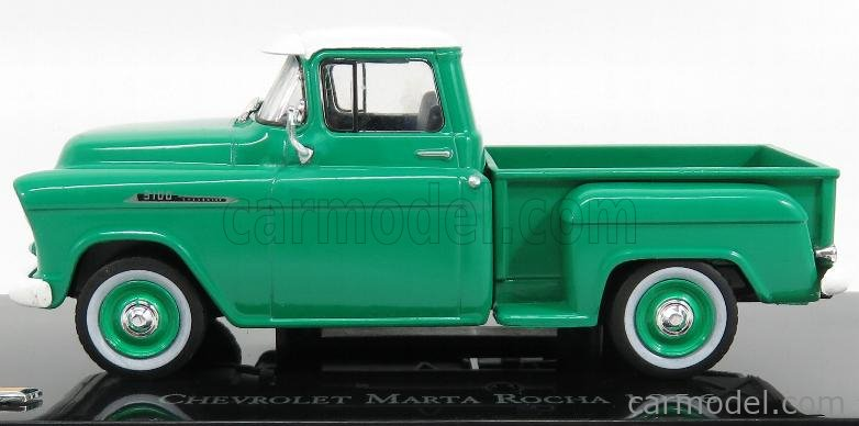 EDICOLA EDICHEV003 Masstab: 1/43  CHEVROLET 3100 PICK-UP MARTA ROCHA 1956 GREEN WHITE