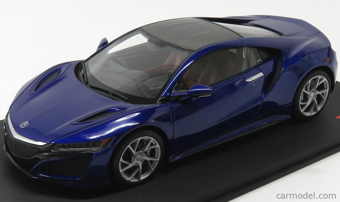 Truescale Ts0013 Scale 1 18 Acura Nsx 2017 Blue Pearl