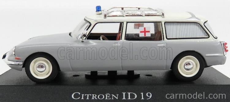 EDICOLA 7495004 Scale 1/43  CITROEN ID19 BREAK AMBULANCE 1962 GREY WHITE