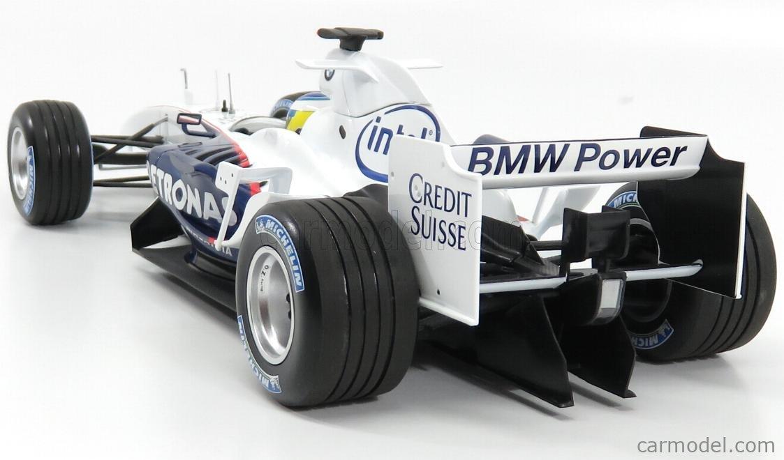 MINICHAMPS 100060902 Scale 1/18  SAUBER F1  BMW C24B N 2 TEST VALENCIA 2006 N.HEIDFELD WHITE BLUE