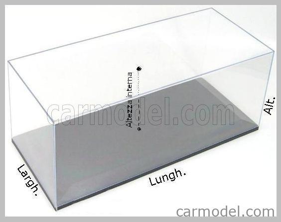 ATLANTIC ATL10061 Echelle 1/12  VETRINA DISPLAY BOX MOLSHEIM BASE IN LEGNO - WOOD MAHOGANY BASE - Lungh.LENGHT cm 51 X Largh.WIDTH cm 24 X Alt.HEIGHT cm 19 (altezza interna 15.3 cm ) PLASTIC DISPLAY