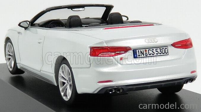 PARAGON-MODELS 5011615331 Scale 1/43  AUDI A5 S5 SPORTBACK CABRIOLET 2016 TOFANA WHITE PEARL MET