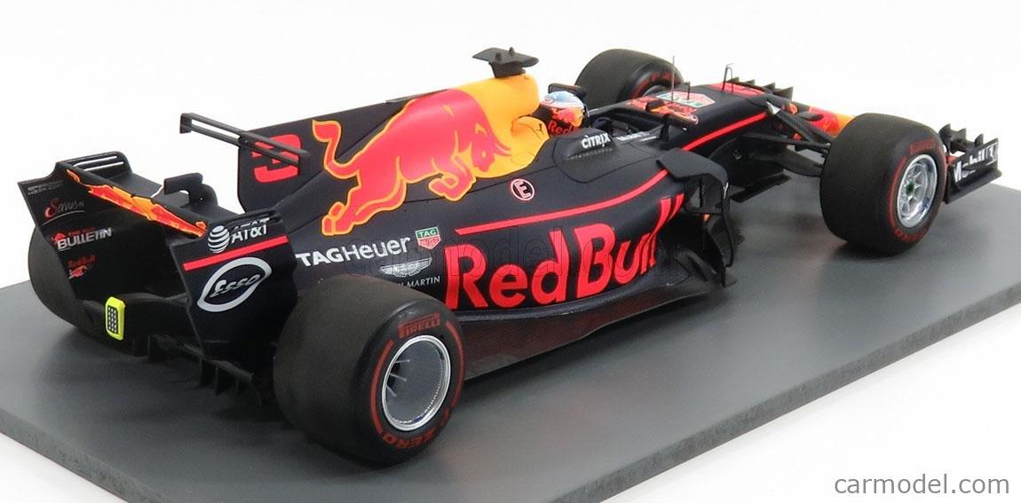 SPARK-MODEL 18S310 Scale 1/18  RED BULL F1  TAG HEUER RB 13 N 3 WINNER AZERBAIJAN GP 2017 D.RICCIARDO RED YELLOW