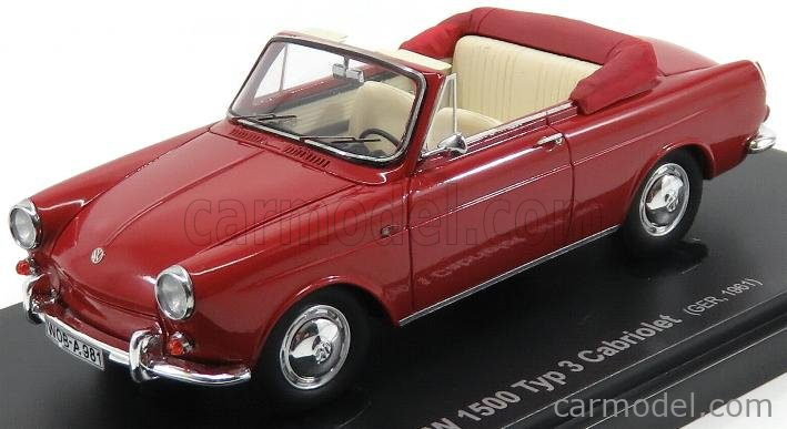 AVENUE43 ATC60003 Scale 1/43  VOLKSWAGEN 1500 TYP 3 CABRIOLET GERMANY 1961 RED