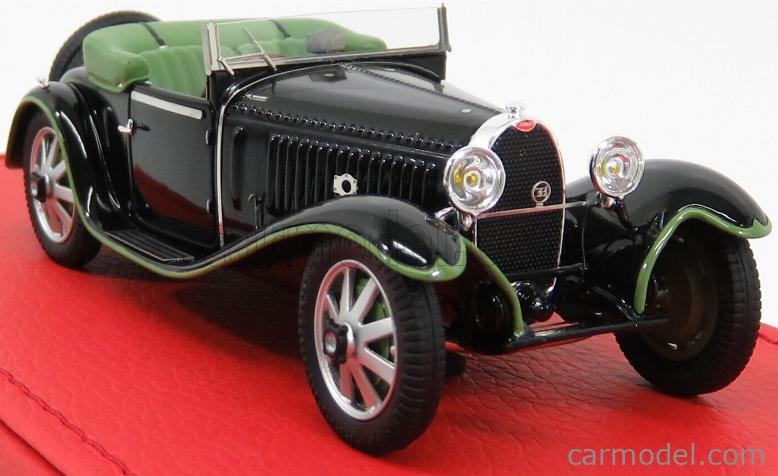 EVRAT EVR205 Masstab: 1/43  BUGATTI T55 CABRIOLET OPEN BILLETER & CARTIER sn55206 1933 - RESTAUREE VERSION BLACK GREEN
