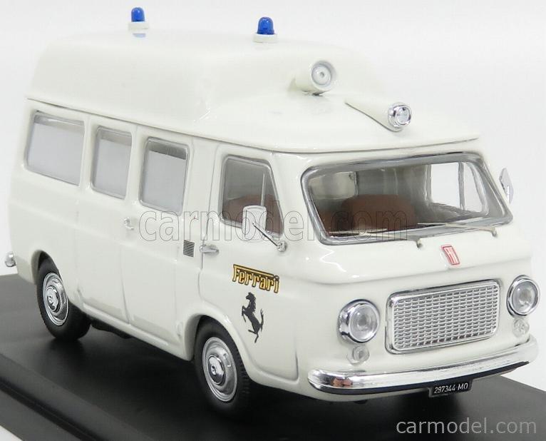 RIO-MODELS 4555 Scale 1/43  FIAT 238 AMBULANCE TETTO ALTO FERRARI FIORANO 1972 WHITE