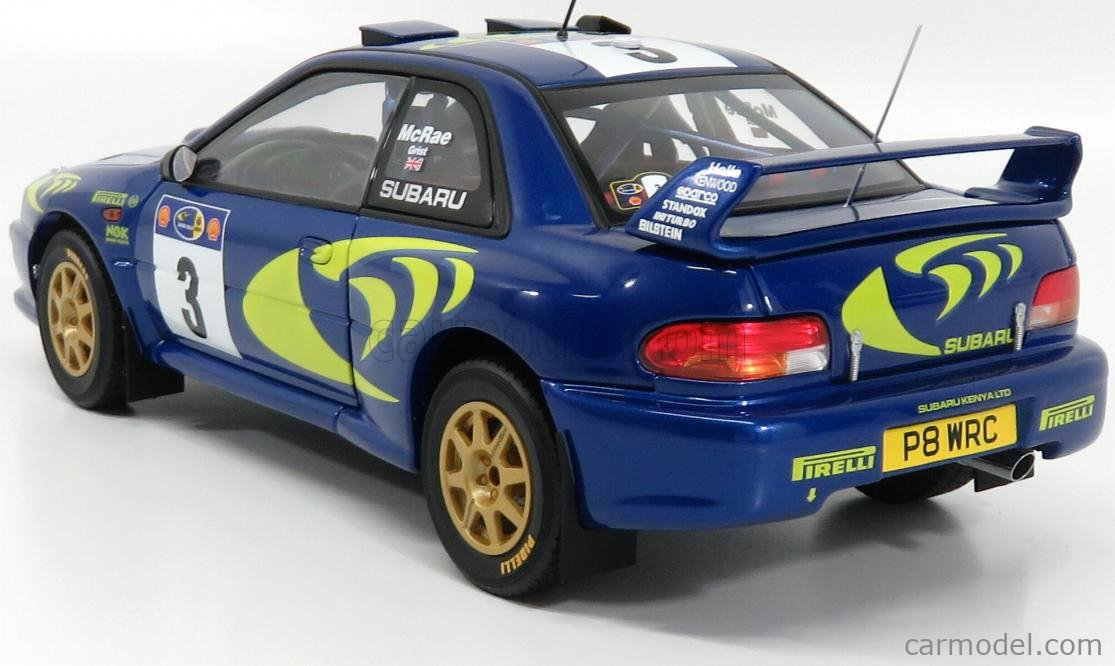 AUTOART 89792 Scale 1/18  SUBARU IMPREZA WRC N 3 WINNER RALLY SAFARI 1997 COLIN MCRAE - NICKY GRIST BLUE MET