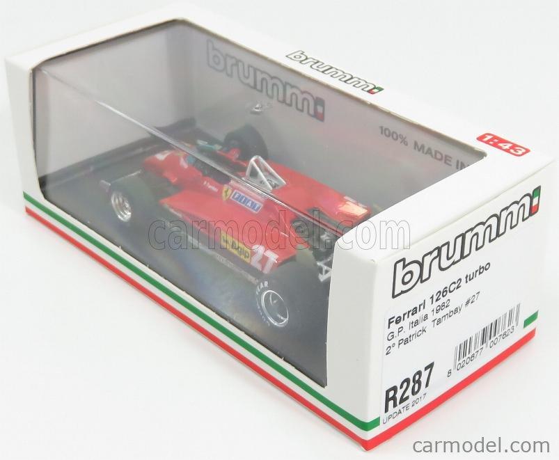 BRUMM R287-UPD Echelle 1/43  FERRARI F1  126 C2 ITALY GP 1982 N 27 P.TAMBAY RED