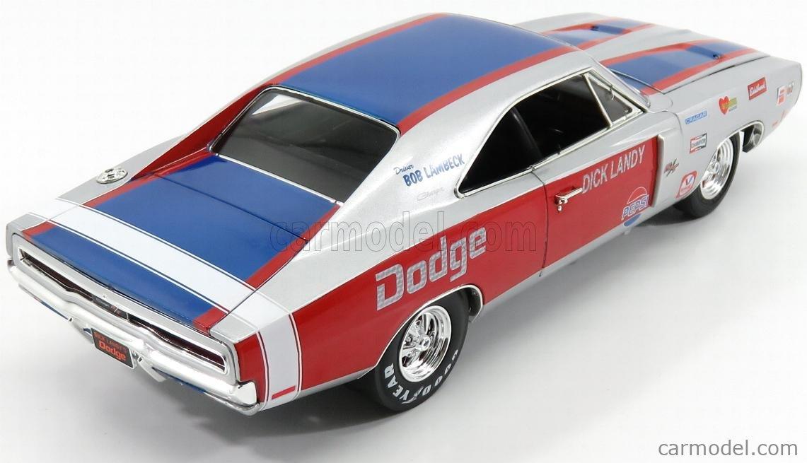 AUTOWORLD AW238/06 Echelle 1/18  DODGE CHARGER R/T 426 HEMI 1970 DICK LANDY SILVER