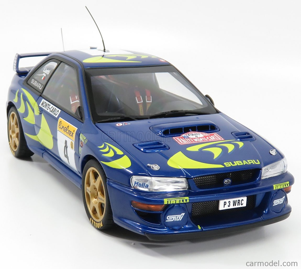 AUTOART 89791 Scale 1/18  SUBARU IMPREZA STI WRC N 4 WINNER RALLY MONTECARLO 1997 P.LIATTI - F.PONS BLUE MET YELLOW