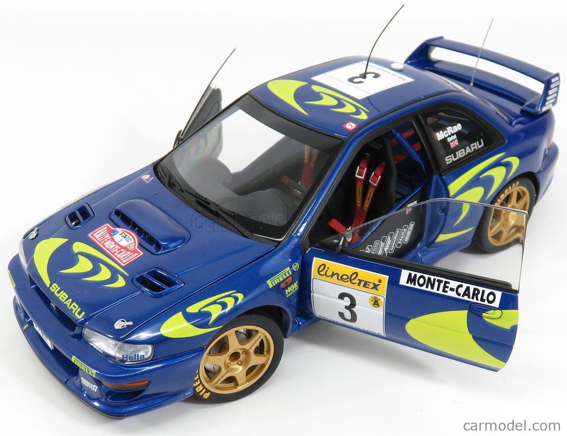 AUTOART 89790 Scale 1/18  SUBARU IMPREZA WRC N 3 RALLY MONTECARLO 1997 C.McRAE - N.GRIST BLUE MET