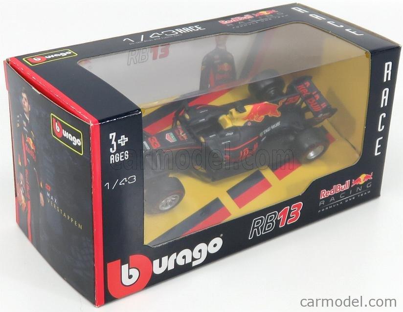 BURAGO BU38027-38127-VERST Масштаб 1/43  RED BULL F1  RB13 TAG HEUER N 33 SEASON 2017 MAX VERSTAPPEN RED BLUE YELLOW