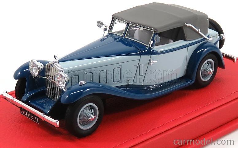 EVRAT EVR208 Masstab: 1/43  DELAGE D8S CABRIOLET CLOSED FERNANDEZ ET DARRIN 1933 BLUE GREY