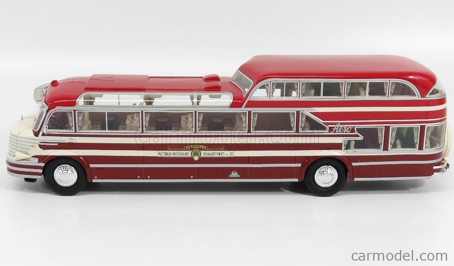 NEO SCALE MODELS NEO46616 Scale 1/43  KRUPP SW O480 AUTOBUS LUDEWIG 1952 RED CREAM