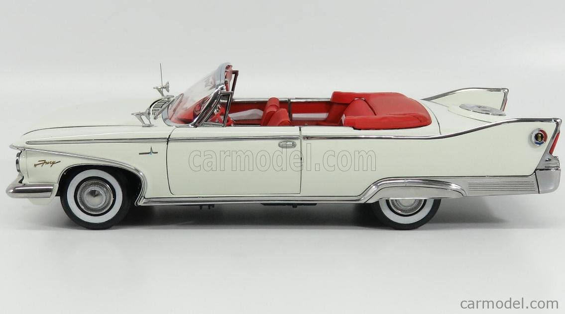 SUN-STAR 05403 Scale 1/18  PLYMOUTH FURY CONVERTIBLE CABRIOLET OPEN 1960 OYSTER WHITE