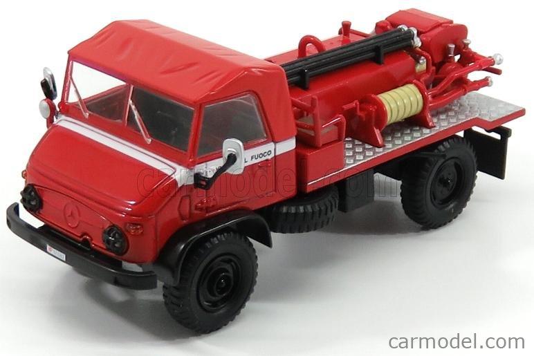 EDICOLA G190E013 Scale 1/43  MERCEDES BENZ UNIMOG 404 TRUCK VIGILI DEL FUOCO FIRE ENGINE 1960 RED