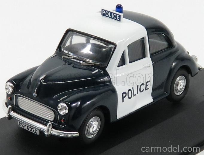 VANGUARDS VA05809 Masstab: 1/43  MORRIS MINOR 1000 POLICE 1963 DARK BLUE WHITE