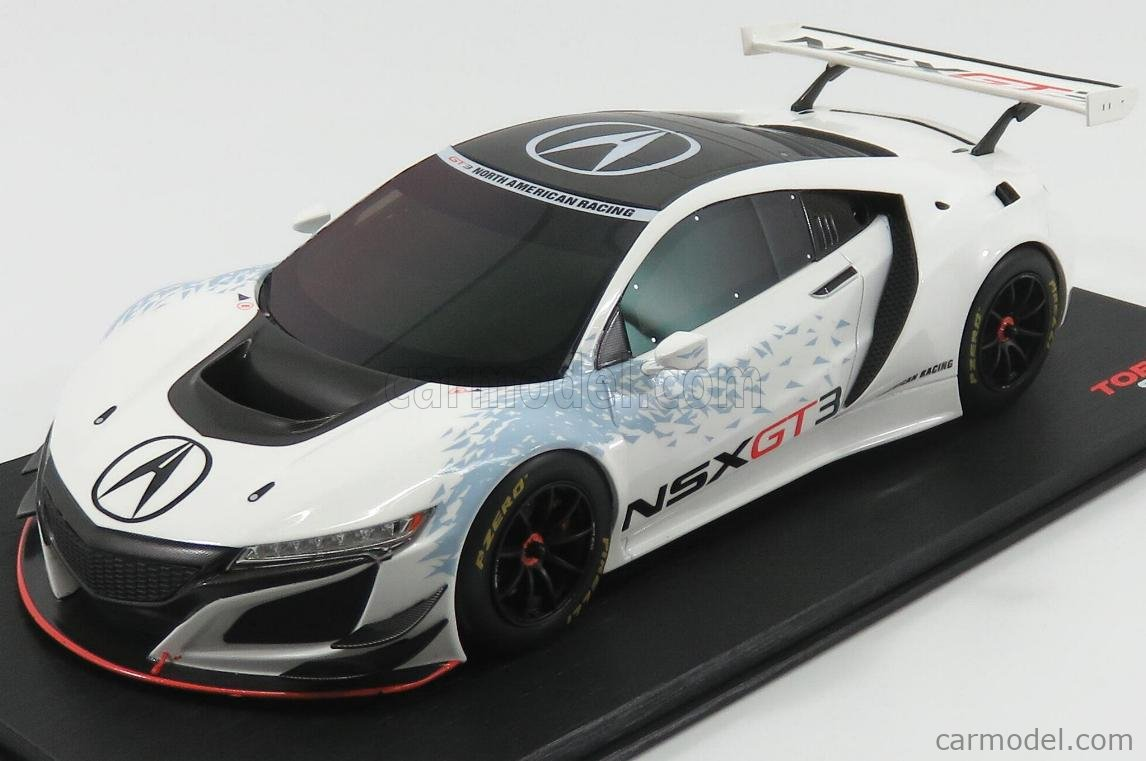 TRUESCALE TS0081 Масштаб 1/18  ACURA NSX GT3 NEW YORK AUTO SHOW 2016 WHITE