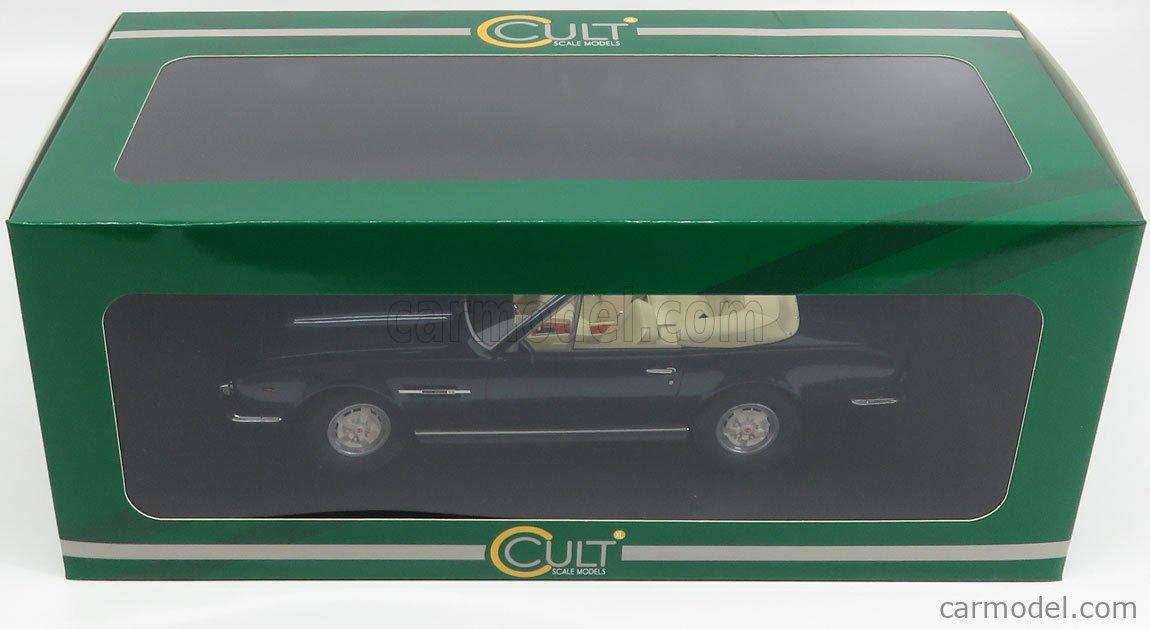 CULT-SCALE MODELS CML032-1 Escala 1/18  ASTON MARTIN V8 VOLANTE CABRIOLET 1978 BLUE MET