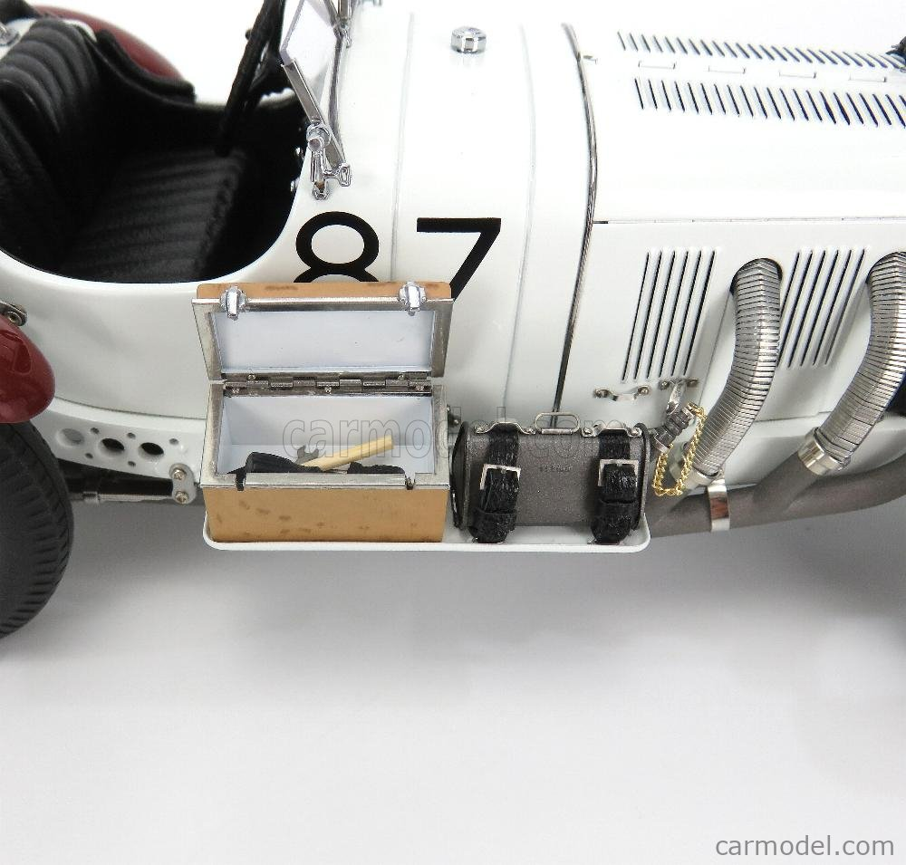 CMC M055 Echelle 1/18  MERCEDES BENZ SSKL SPIDER N 87 WINNER MILLE MIGLIA 1931 R.CARACCIOLA WHITE