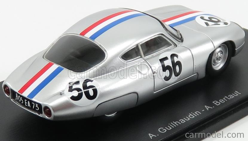 SPARK-MODEL S5070 Masstab: 1/43  PANHARD CD DKW 750 COUPE TEAM AUTO UNION GMBH N 56 24h LE MANS 1963 A.GUILHAUDIN - A.BERTAUT SILVER