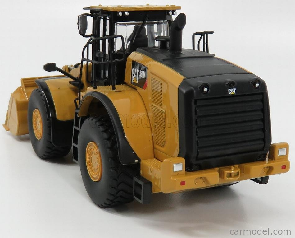 DM-MODELS 85543 Echelle 1/50  CATERPILLAR CAT980K RUSPA GOMMATA - SCRAPER TRACTOR WHEEL LOADER YELLOW BLACK