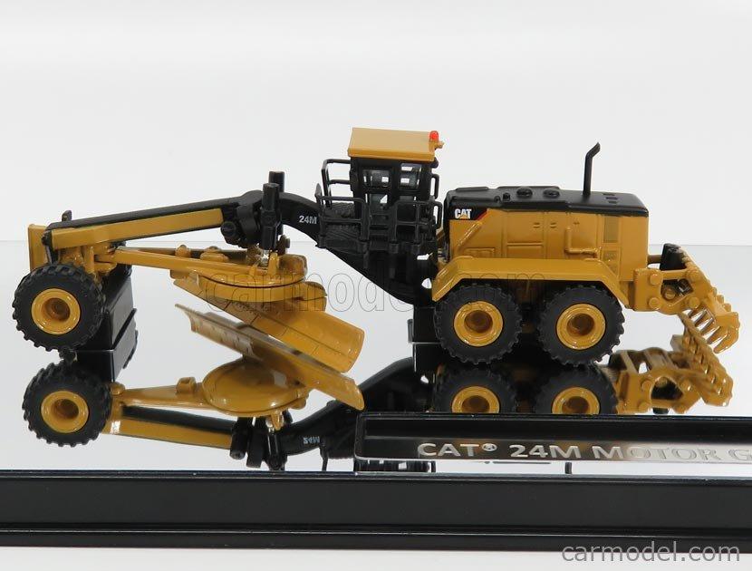 DM-MODELS 85539 Echelle 1/125  CATERPILLAR CAT24M RUSPA LIVELLATRICE GOMMATA -  SCRAPER TRACTOR MOTOR GRADER YELLOW BLACK