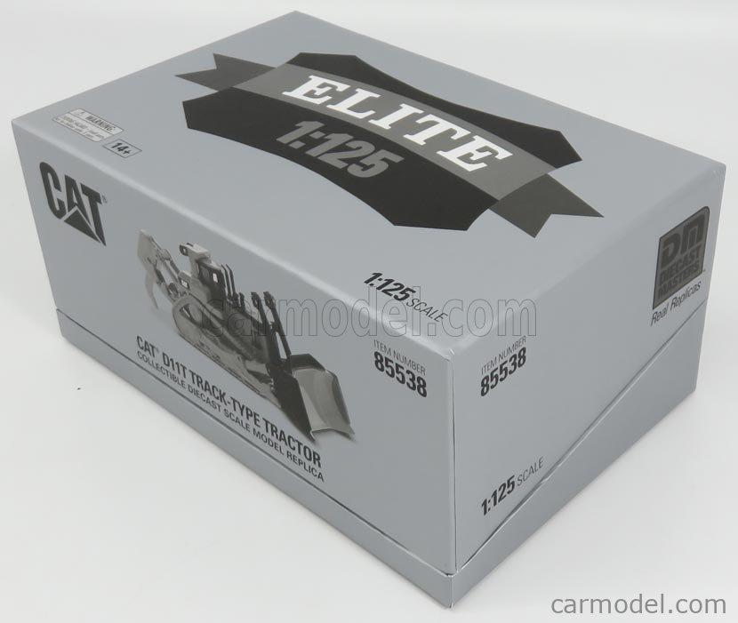 DM-MODELS 85538 Echelle 1/125  CATERPILLAR CATD11T RUSPA CINGOLATA - SCRAPER TYPE TRACTOR YELLOW BLACK