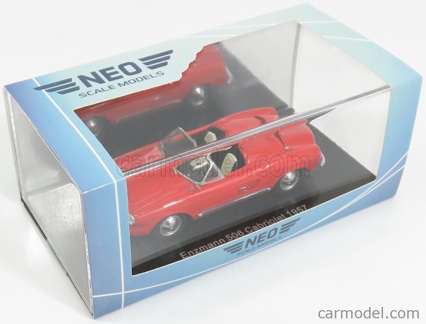 NEO SCALE MODELS NEO46188 Scale 1/43  VOLKSWAGEN ENZMANN 506 CABRIOLET OPEN 1957 RED