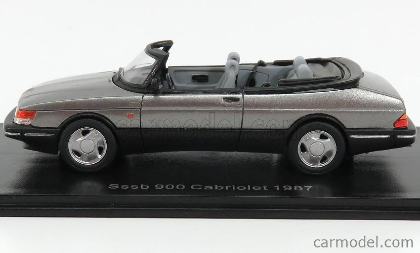 NEO SCALE MODELS NEO43569 Scale 1/43  SAAB 900 CABRIOLET OPEN 1987 GREY MET