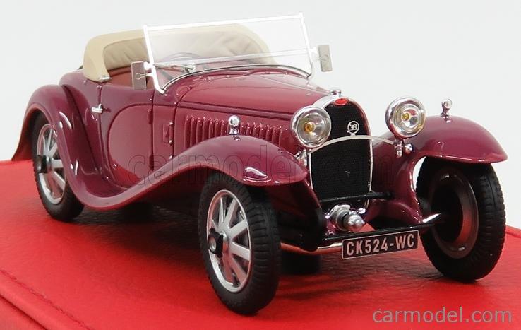EVRAT EVR209O Masstab: 1/43  BUGATTI T55 SUPER SPORT CABRIOLET VANVOOREN RONDONI 1932 OPEN 2 TONE PURPLE