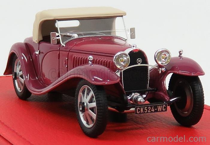 EVRAT EVR209F Masstab: 1/43  BUGATTI T55 SUPER SPORT CABRIOLET VANVOOREN RONDONI 1932 CLOSED SOFT-TOP 2 TONE PURPLE