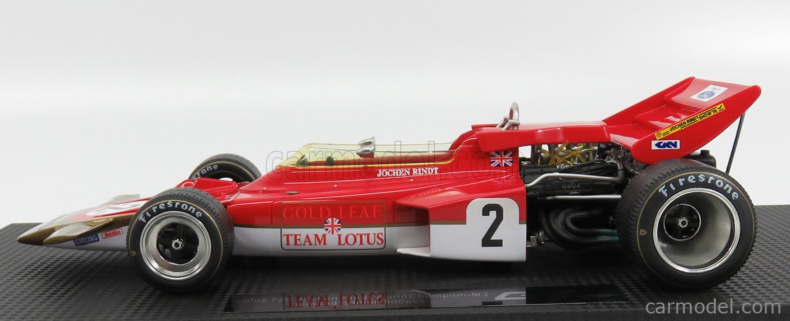 GP-REPLICAS GP013A Scale 1/18  LOTUS F1  72C TEAM LOTUS N 2 JOCHEN RINDT SEASON 1970 WORLD CHAMPION RED GOLD