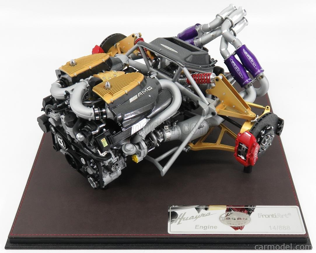 Fronti Art F045 Scale 1 6 Pagani Huayra Motore Engine Mercedes Amg Con Vetrina With Showcase Various