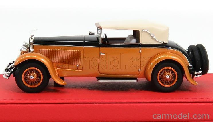 EVRAT EVR212F Masstab: 1/43  DELAGE D8S CABRIOLET FIGONI CLOSED MAHARAJA OF HOLKAR 1930 ORANGE BLACK