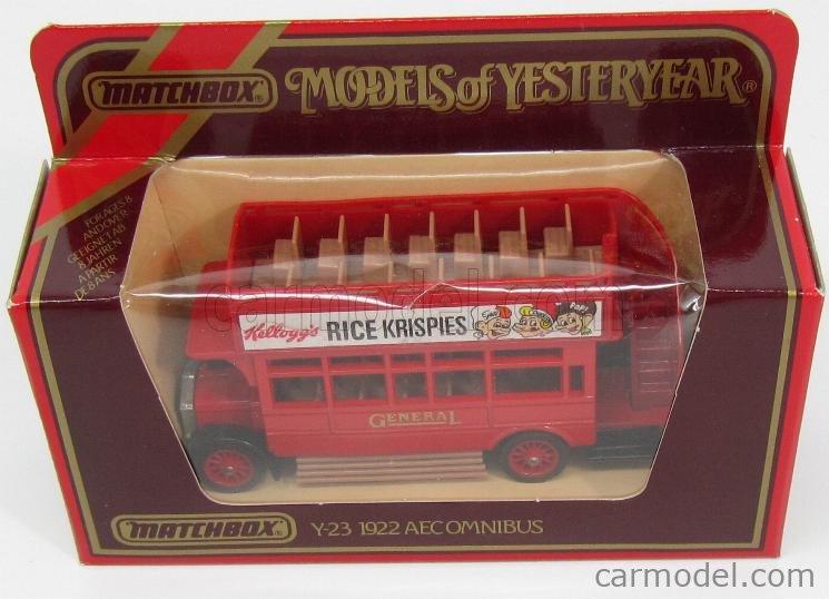 MATCHBOX Y23 Echelle 1/72  AEC OMNIBUS - AUTOBUS RED
