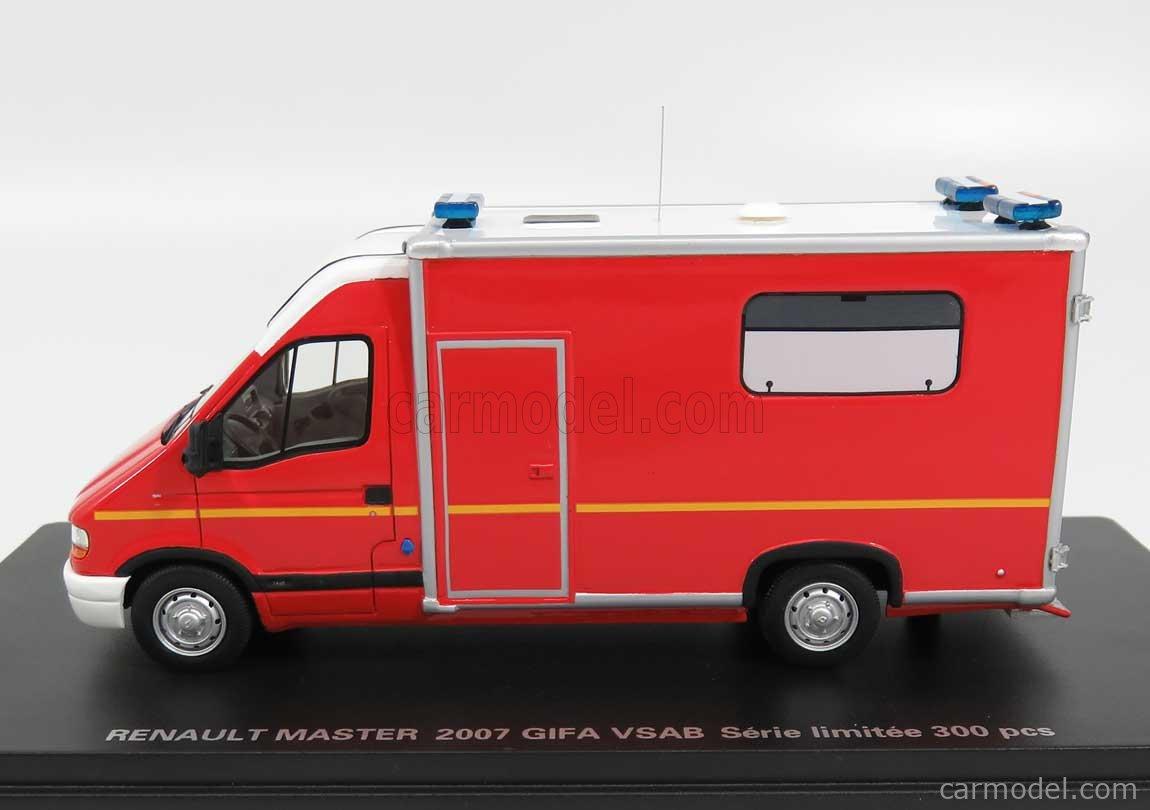 ALERTE ALERTE0070 Scale 1/43  RENAULT MASTER TYPE 2 GIFA VSAB ALERT AMBULANCE FIRE ENGINE 1994 RED WHITE