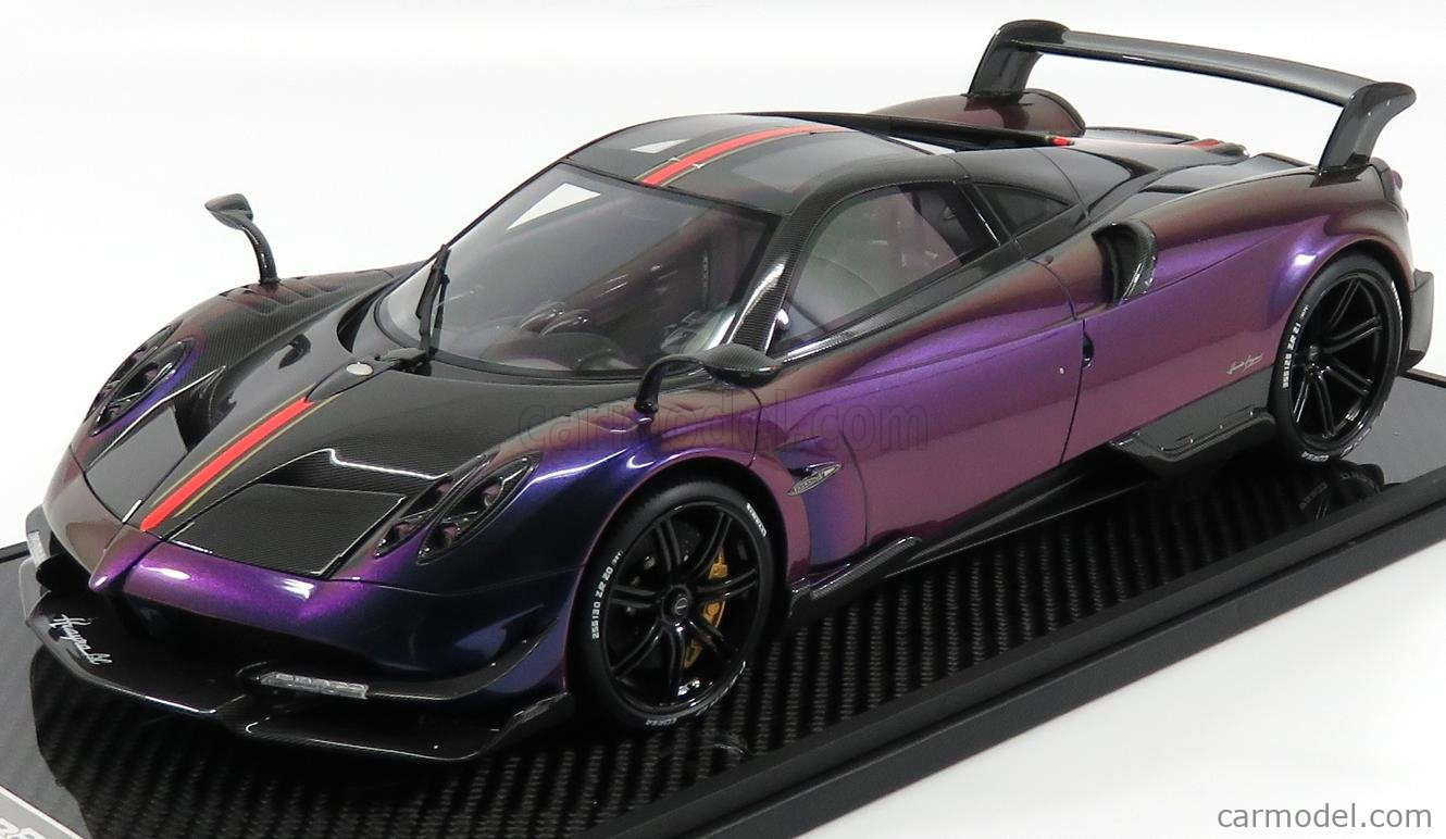 Bbr Models Bbr1208c Scale 1 12 Pagani Huayra Bc 2016 Con Vetrina With Showcase Chameleon Blue Purple Carbon