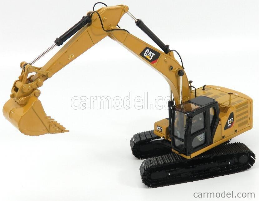 DM-MODELS 85571 Echelle 1/50  CATERPILLAR CAT323 ESCAVATORE CINGOLATO - TRACTOR HYDRAULIC EXCAVATOR - NEXT GENERATION YELLOW BLACK
