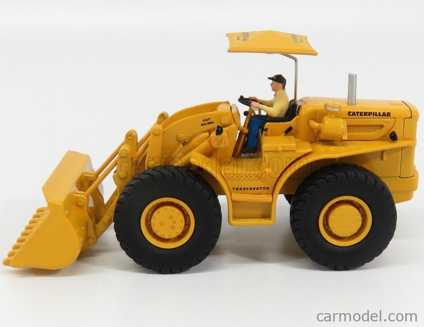 DM-MODELS 85558 Echelle 1/50  CATERPILLAR SET 2X CAT966M + CAT966A RUSPA GOMMATA - SCRAPER TRACTOR WHEEL LOADER YELLOW BLACK