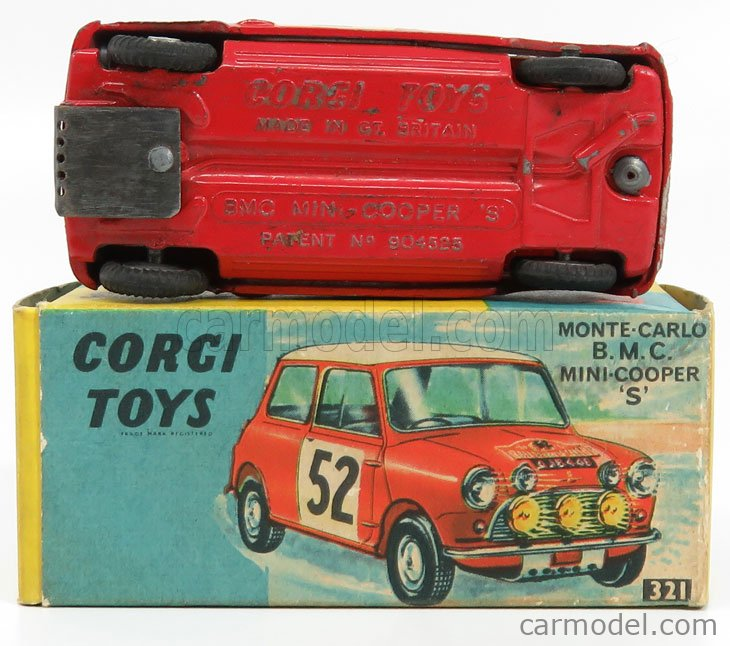 CORGI 321 Masstab: 1/43  MORRIS MINI COOPER S N 2 WINNER RALLY MONTECARLO 1965 MAKINEN - EASTER RED WHITE