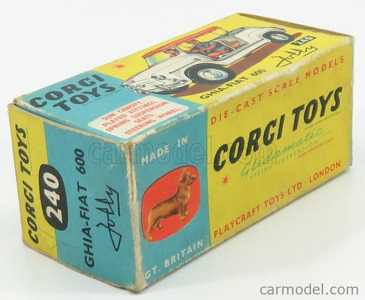CORGI 240 Escala 1/43  FIAT 600 GHIA JOLLY BLUETTE