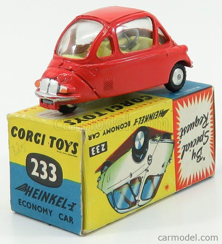 CORGI 233 Echelle 1/43  HEINKEL ECONOMY CAR SCARLET LIGHT RED