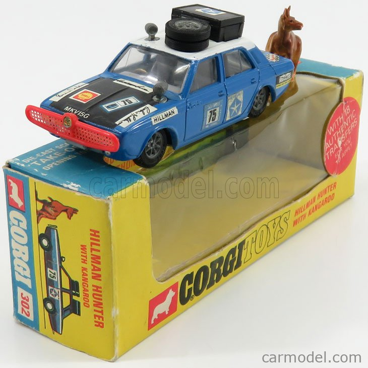 CORGI 302 Масштаб 1/43  HILLMAN HUNTER SAFARI WITH KANGAROO BLUETTE