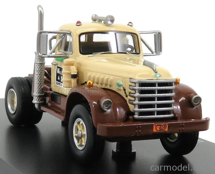 NEO SCALE MODELS NEO64048 Scale 1/64  DIAMOND T921 TRACTOR TRUCK 2-ASSI WILLIAM & SONS 1955 BEIGE BROWN