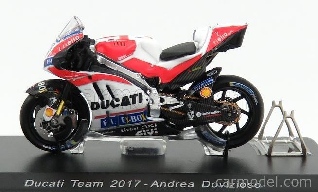 SPARK-MODEL M43045 Scale 1/43  DUCATI GP17 TEAM DUCATI N 4 WINNER MUGELLO ITALY MOTOGP 2017 A.DOVIZIOSO WHITE RED