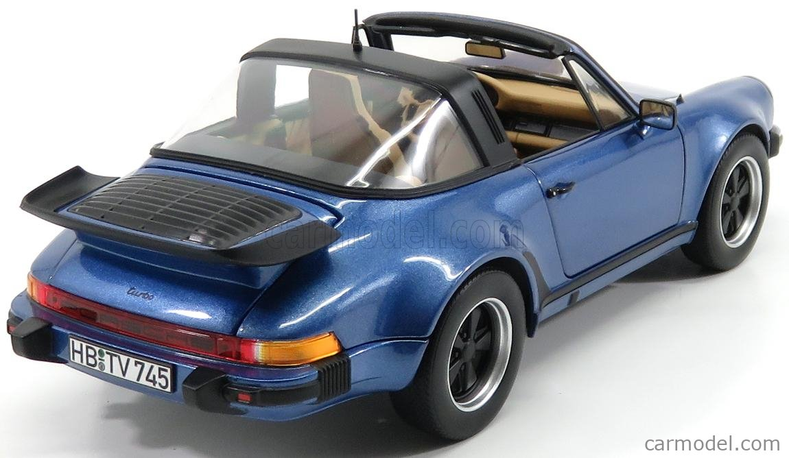 Norev 187663 Porsche 911 930 Turbo 3.3 Targa 1987 blau metallic 1:18 Modellauto